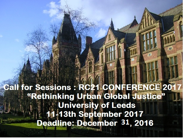 RC21 Conference 2017: Call for Sessions!