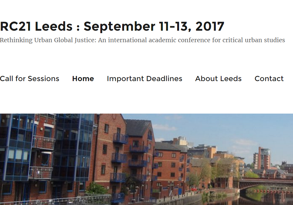 2017 RC21 Conference in Leeds: Website is online