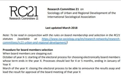 RC21 Institutional Documents Updated