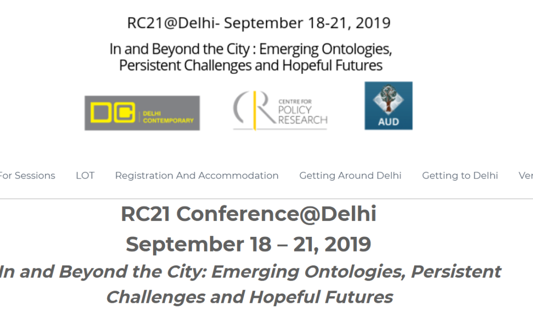 The Delhi 2019 Conference web site is online!