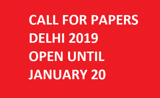 Call for Abstracts: Delhi 2019 Conference!