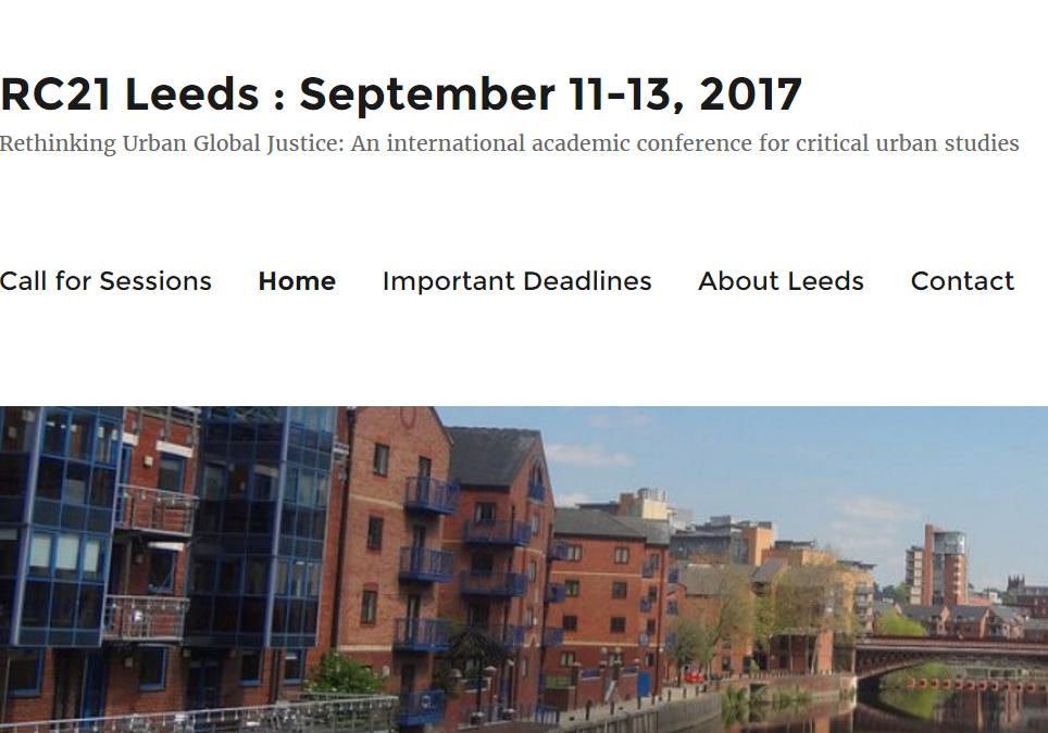 2017 RC21 Conference in Leeds: Website is online
