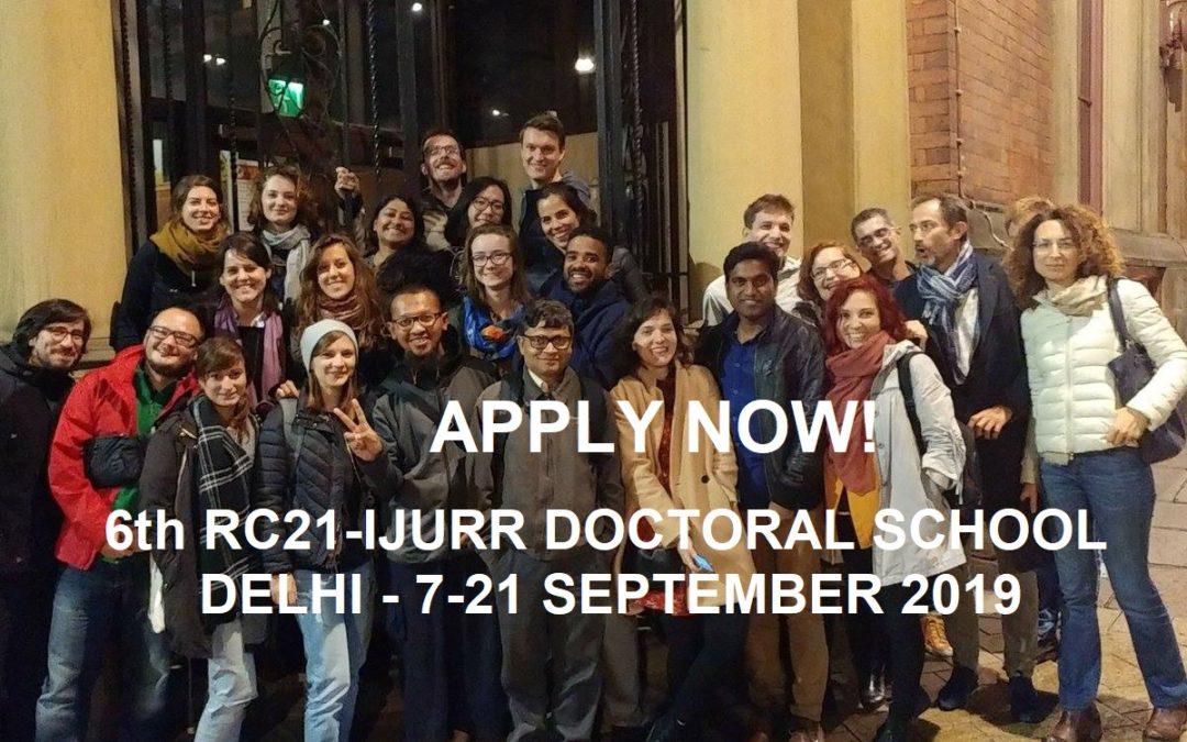 6th RC21-IJURR Doctoral School in Comparative Urban Studies in Delhi!